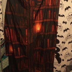 Bookshelf print curtains
